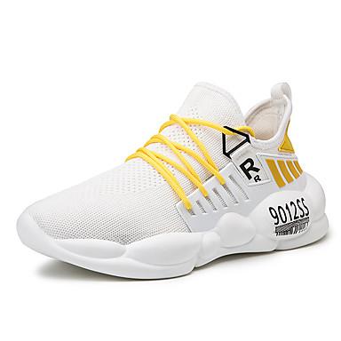 Ανδρικά Παπούτσια άνεσης Ελαστικό ύφασμα Φθινόπωρο & Χειμώνας Αθλητικό Αθλητικά Παπούτσια Αναπνέει Μαύρο / Άσπρο / Κίτρινο / Λευκό