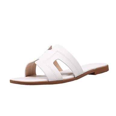 voordelige Damespantoffels & slippers-Dames Slippers & Flip-Flops Platte hak PU / Synthetisch Zomer Lichtblauw / Licht Roze / Licht Groen