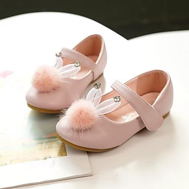 Κοριτσίστικα Ανατομικό / Λουλουδάτα φορέματα για κορίτσια Μικροΐνα Χωρίς Τακούνι Τα μικρά παιδιά (4-7ys) / Μεγάλα παιδιά (7 ετών +) Φιόγκος Μαύρο / Ροζ Ανοικτό / Κρύσταλλο Άνοιξη / Φθινόπωρο