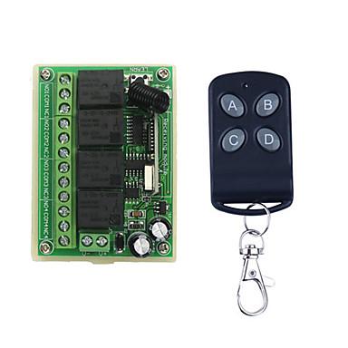 dc12v 4χ κουμπί εκμάθησης τηλεχειριστήριο διακόπτη / 4 κουμπί απομακρυσμένη / οδήγησε / πόρτες ενεργοποίηση / απενεργοποίηση ελέγχου 433mhz