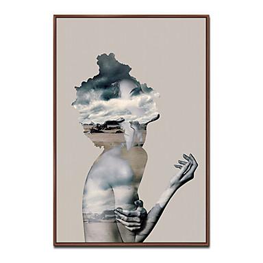 Innrammet Kunstrykk Innrammet Lerret Tryk - Mennesker Polystyrene Olje Maleri Veggkunst