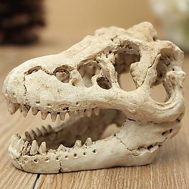 Fisketank Akvarium Dekorasjon Dekorasjoner til hjemmet Akvarium Bakgrunner Pyntegjenstander Dinosaur Beige Giftfri og smakløs Dekorasjon Harpiks 1 8.5*5.5*4.5 cm
