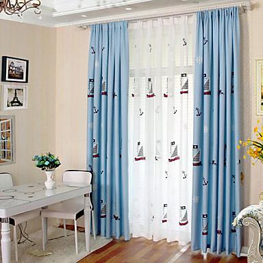 Personvern To paneler Gardin Stue   Curtains / Broderi