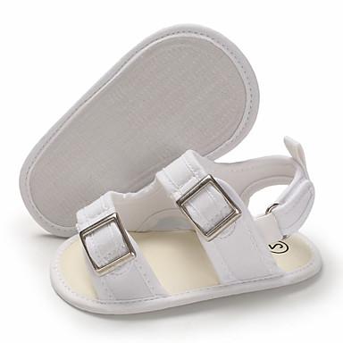 preiswerte Schuhe für Kinder-Jungen / Mädchen Lauflern Leinwand Sandalen Kleinkinder (0-9 m) / Kleinkind (9m-4ys) Weiß / Dunkelblau / Dunkelgrau Sommer