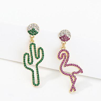 povoljno Modne naušnice-Žene Naušnica neprilagođeno Kaktus Flamingo Imitacija dijamanta S925 Sterling Silver Naušnice Jewelry Zelen Za Party Dnevno Ulica Praznik Festival 1 par