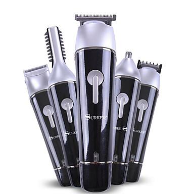 Europlug 5 em 1 máquina de cortar cabelo recarregável cordless grooming kit para homens barba trimmer nariz aparador de pêlos dual shaver