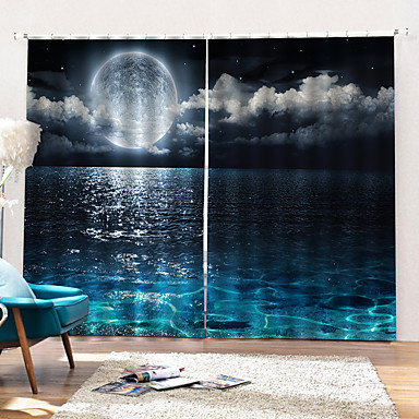 fabrikk direkte pris 3d kunsttrykk blackout gardin luksus moderne tykk vanntett dusj gardin