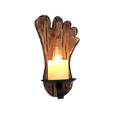 δημιουργική ρετρό τείχος τοίχου vintage / ρουστίκ / καταθέσει flush mount φώτα τοίχων καταστήματα / καφετέριες / αίθουσα μελέτης / γραφείο ξύλινο τοίχο φως για φουαγιέ διάδρομο