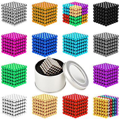 cheap Building Toys-216-1000 pcs 3mm Magnet Toy Magnetic Balls Building Blocks Super Strong Rare-Earth Magnets Neodymium Magnet Neodymium Magnet Contemporary Classic & Timeless Chic & Modern Stress and Anxiety Relief