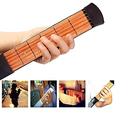 38 Inch 6 Strings Pocket Guitar / Guitar Trainer Tool / Chord Practice Tool Engineering Plastics / Wood Portable Musical Instrument Accessories