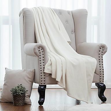 Πολύ λειτουργικές κουβέρτες, Μονόχρωμο Φανέλα Φλις Μαλακό κουβέρτες