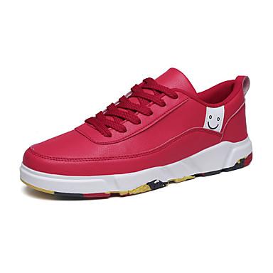 Ανδρικά Παπούτσια άνεσης PU Καλοκαίρι Αθλητικά Παπούτσια Μαύρο / Λευκό / Κόκκινο / ΕΞΩΤΕΡΙΚΟΥ ΧΩΡΟΥ