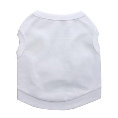Hunder Vest Hundeklær Hvit Kostume Dalmatiner Corgi Beagle Bomull Ensfarget Fritid / hverdag Enkel Stil XS S M L