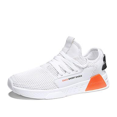 Ανδρικά Παπούτσια άνεσης Ελαστικό ύφασμα Φθινόπωρο & Χειμώνας Αθλητικό Αθλητικά Παπούτσια Αναπνέει Λευκό / Μαύρο / Γκρίζο