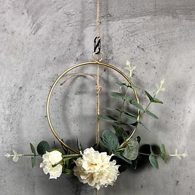 Kunstige blomster 5 Gren Klassisk Moderne Moderne Evige blomster kurv av blomster