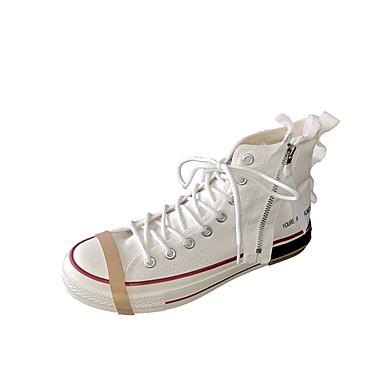 Homens Sapatos Confortáveis Lona Primavera / Outono Esportivo / Casual Tênis Caminhada Preto / Branco / Verde Tropa / Ao ar livre