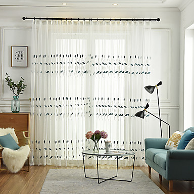 [$30.23] Dos paneles para niños sala de estar dormitorio comedor cortina  bordada