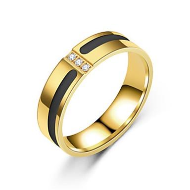 Herre Dame Band Ring Ring 1pc Gull Sølv Rose Gull Rustfritt Stål Sirkelformet Enkel Gave Daglig Smykker Kul