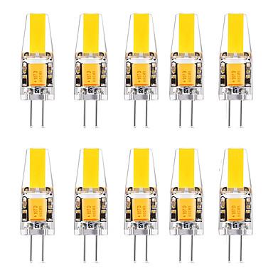 10pcs 2 W LED-lamper med G-sokkel 3000 lm G4 1 LED perler Varm hvit Hvit 12 V