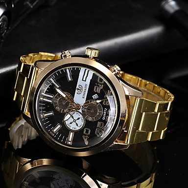 cheap Watches-Men's Dress Watch Quartz Casual Watch Analog Classic - Black Gold