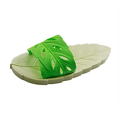 voordelige Damespantoffels & slippers-Dames Slippers & Flip-Flops Platte hak Open teen PVC Informeel Zomer Paars / Licht Groen / Rood