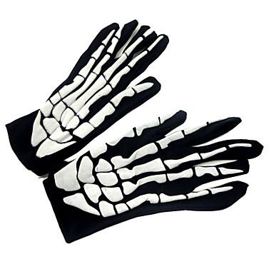 Yiwu pby_01b8 Halloween Ghost Festival Skummel Skull Ghost Foam Cloth Hansker Foam Ghost Gloves