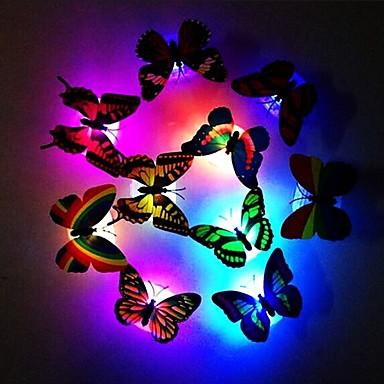 preiswerte Deko-Lichter-Art und Weise 7 Farbändernder netter Schmetterling führte Nachtlichtausgangsraumschreibtisch-Wanddekor 1pc