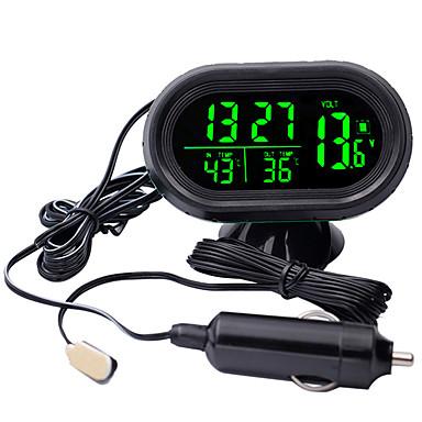 billige Dekkmålere-digital bil klokke termometer batteri voltmeter spenning lysende elektronisk klokke