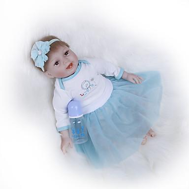 Κούκλες σαν αληθινές Μωρά Κορίτσια 22 inch Παιδικό / Εφηβικό Παιδικά Γιούνισεξ Παιχνίδια Δώρο