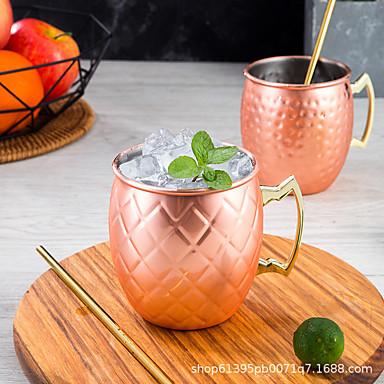 Yiwu pho_0awhmoscowmule Moskva muldyr kopp kobberbelagt kopp 304 rustfritt stål krus cocktail glass ølkrus hammerpunkt sølv