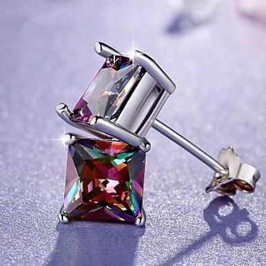 levne Pánské šperky-Pánské Peckové náušnice Klasika Drahocenný Moderní Geleneksel Postříbřené Náušnice Šperky Duhová Pro Denní Street 1 Pair