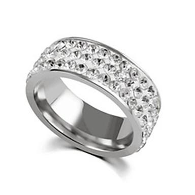 levne Dámské šperky-Pánské Dámské Band Ring Prsten Tail Ring 1ks Zlatá Stříbrná Nerez Titanová ocel Kulatý Základní Módní Dar Denní Šperky Půvab