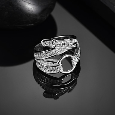 billige Motering-Dame Ring Åpne Ring 1pc Sølv Sølv Enkel Klassisk Vintage Daglig Gate Smykker Klassisk Skulptur Kul Smuk