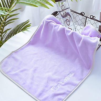Overlegen kvalitet Vaskehåndklæ, Ensfarget Bomull / Linblandning Baderom 2 pcs