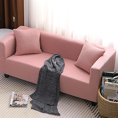 cheap Slipcovers-Sofa Cover Striped / Solid Colored / Classic Yarn Dyed / Flocking Polyester / Cotton chambray / Elastic Woven Satin Slipcovers