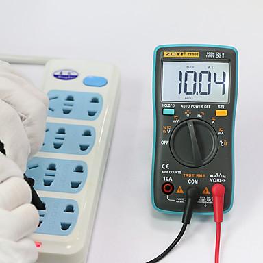 levne Testovací, měřící a kontrolní vybavení-zt102 digitální auto rozsah přenosný multimetr 6000 počítá podsvícení ampérmetr voltmetr ohm english / russian uživatelská příručka