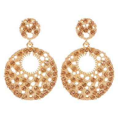 levne Dámské šperky-Dámské Visací náušnice Geometrické Šťastný Módní Moderní Umělé diamanty Náušnice Šperky Zlatá Pro Denní Festival 1 Pair