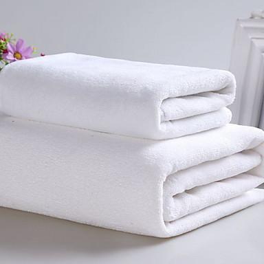 Overlegen kvalitet Badehåndkle, Ensfarget Bomull / Linblandning Baderom 2 pcs