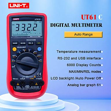 digital multimeter uni-t ut61c høy pålitelighet moderne digitale multimetre ak dc meter cd-bakgrunnsbelysning&data hold multitester