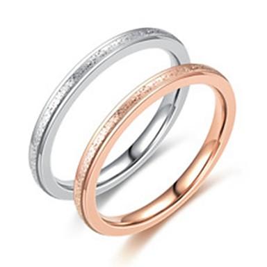 Herre Dame Band Ring Ring Tail Ring 1pc Sølv Rose Gull Rustfritt Stål Titanium Stål Sirkelformet Grunnleggende Mote Gave Daglig Smykker Smuk