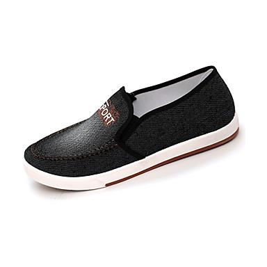 Ανδρικά Παπούτσια άνεσης Ντένιμ Καλοκαίρι Καθημερινό Μοκασίνια & Ευκολόφορετα Αναπνέει Gradient Μαύρο / Μπλε