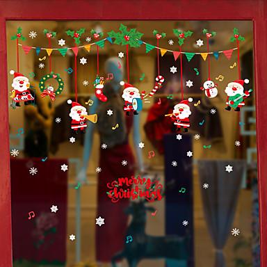 julekonsertvindufilm&amp amp stickers dekorasjon dyr / mønster ferie / karakter / geometrisk PVC (polyvinylklorid) vinduet klistremerke