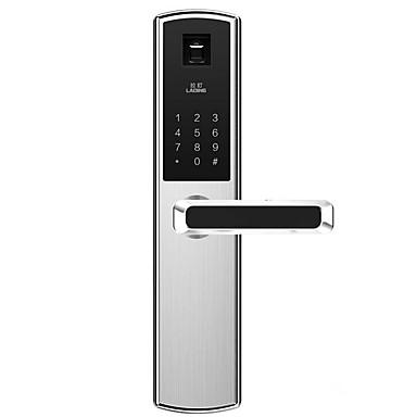 Factory OEM LD609-1 Aço Inoxidável Bloqueio Inteligente Segurança Doméstica Inteligente Sistema RFID / Desbloqueio de impressão digital / Desbloqueio de senha Lar / Escritório Porta de segurança