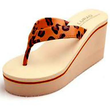 voordelige Damespantoffels & slippers-Dames Slippers & Flip-Flops Creepers EVA Zomer Zwart / Beige / Luipaard