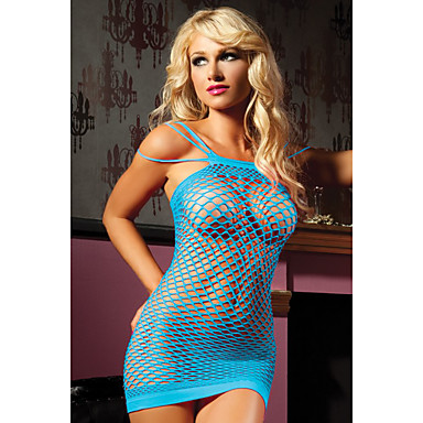 cheap Women's Sexy Lingerie-Women's Lace Sexy Matching Bralettes Nightwear Solid Colored Royal Blue One-Size