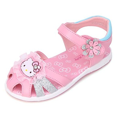 preiswerte Schuhe für Kinder-Mädchen Komfort Kunstleder Sandalen Kleine Kinder (4-7 Jahre) / Große Kinder (ab 7 Jahren) Blume Silber / Violett / Rosa Sommer