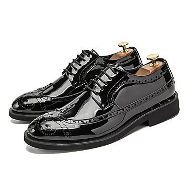 Ανδρικά Παπούτσια άνεσης PU Καλοκαίρι Oxfords Μαύρο / Χρυσό / Ασημί / ΕΞΩΤΕΡΙΚΟΥ ΧΩΡΟΥ
