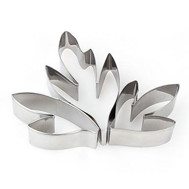 Yiwu pho_01t3 peony leaf skjæring av sølv i rustfritt stål