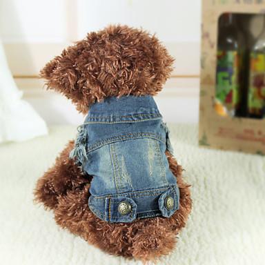 Hunder Denimjakker Vest Hundeklær Mørkeblå Kostume Mops Bichon Frisé Chihuahua Jeans Klassisk Jeans Cowboy XS S M L XL