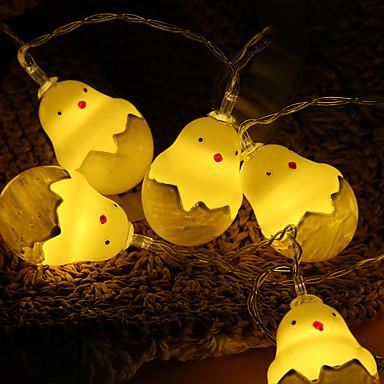 1,5 m kreative søte kyllingstrenglampe 10 leds varm hvit nytt design / fest / ferie / hjem dekorative aa batterier drevet 1pc